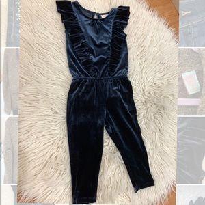 Cat & Jack toddler velour jumpsuit